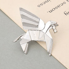 Origami Unicorn Animal Pin/Brooch