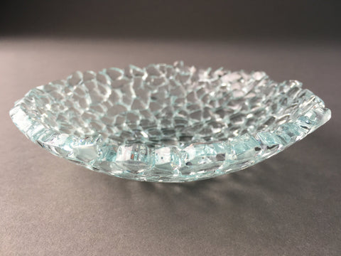 "5"" diameter Recycled glass candy dish"