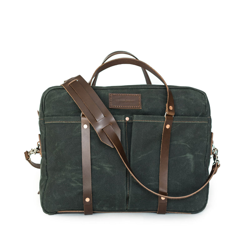 Berhart Briefcase in Deep Forest