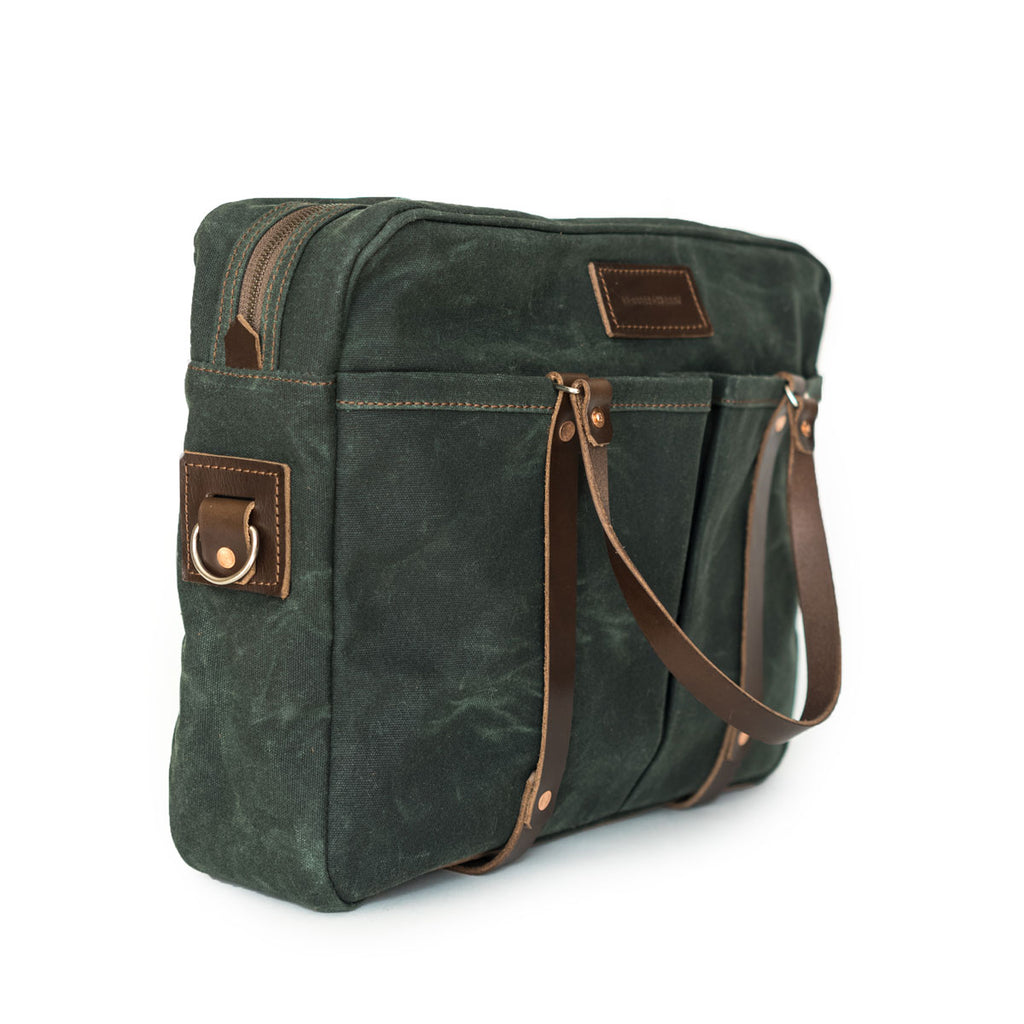 NEW! Berhart Briefcase in Deep Forest
