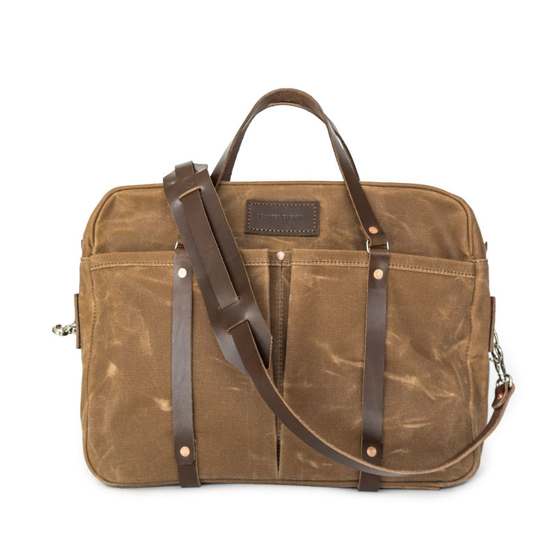 NEW! Berhart Briefcase in Brush Brown