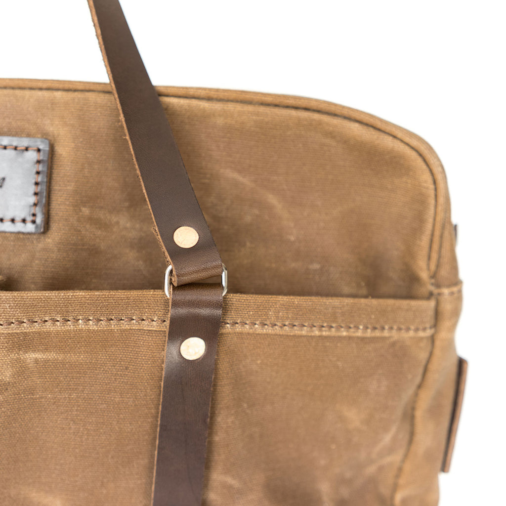 Berhart Briefcase in Brush Brown
