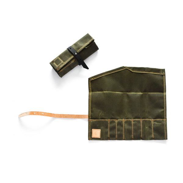 The Pencil Roll in Olive