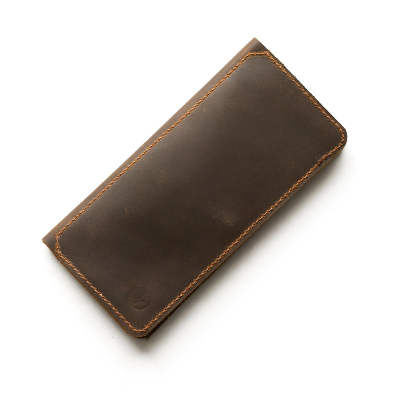 The Flat Wallet in Brown