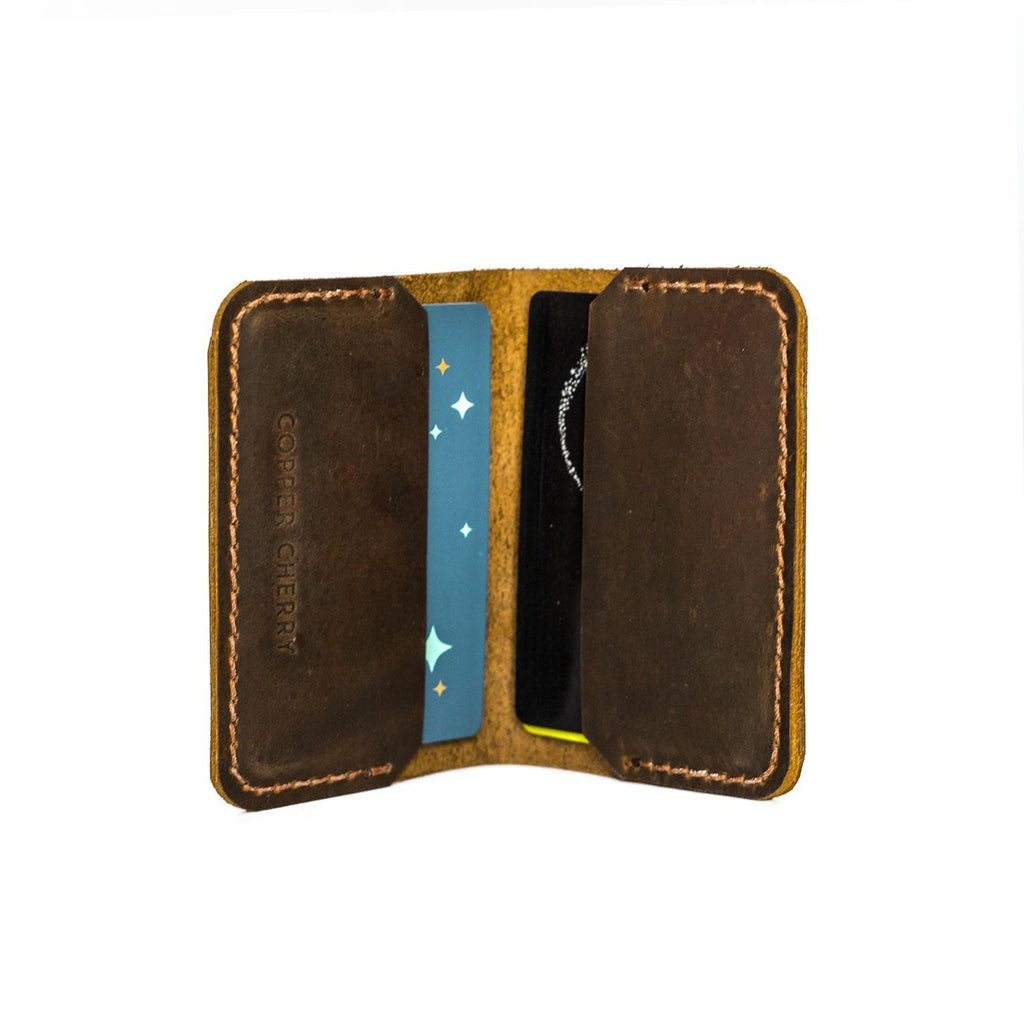 Card Book Wallet in Brown