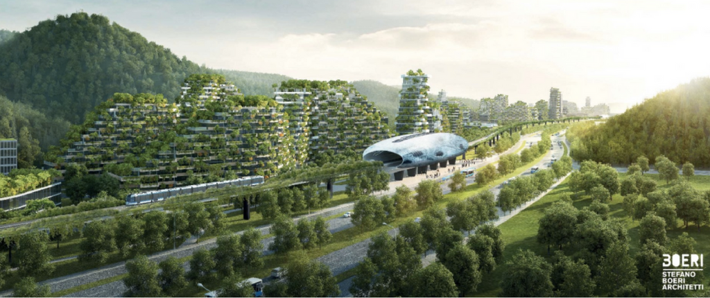 NEWS: China is building a whole city where the buildings are covered in plants and trees- it's stunning.