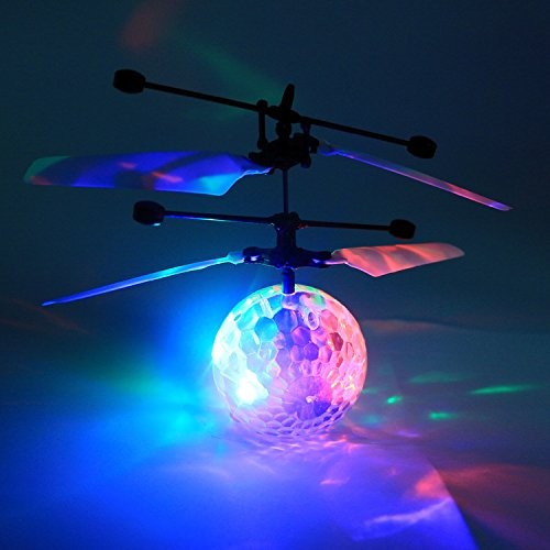 Amazing Flying LED Disco Ball Drone Helicopter - LADSPAD.UK
