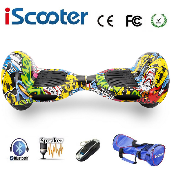 Graffiti HipHop 10 Inch bluetooth led segway hoverboards - LADSPAD.COM
