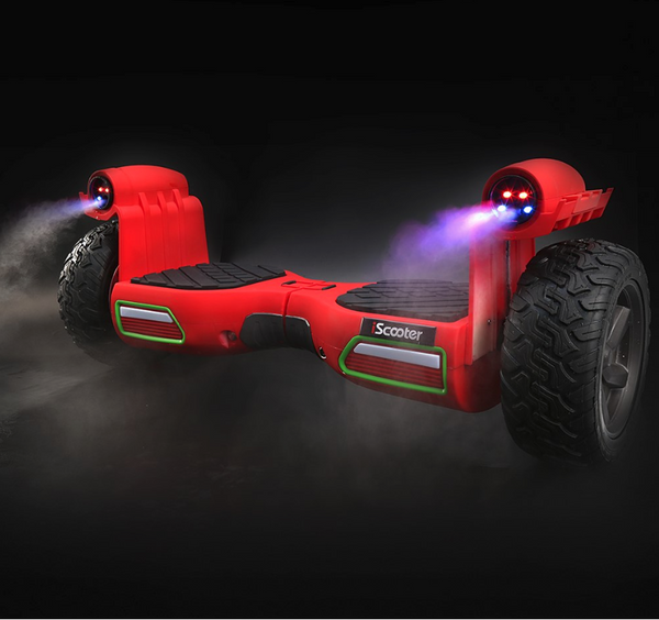 The Pathfinder LED Smoke Cannon Bluetooth Hummer Segway Hoverboard - LADSPAD.UK