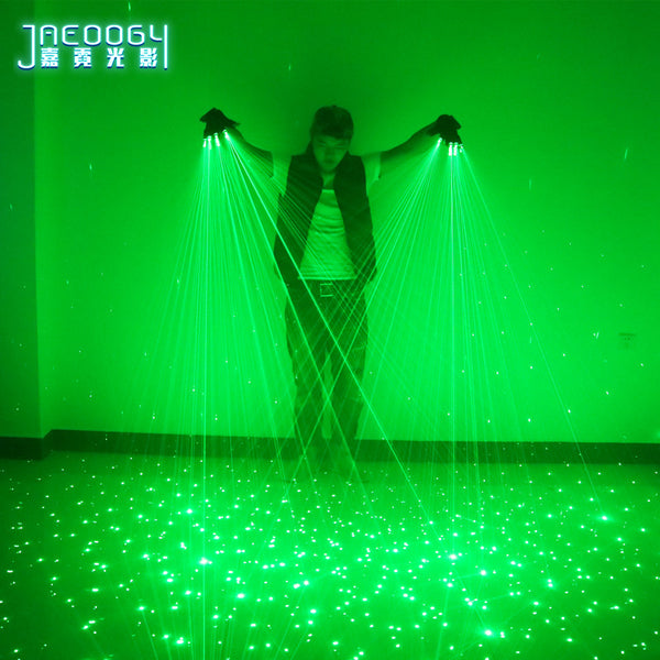 New High quality green laser gloves nightclub bar party dance singer dance props DJ mechanical gloves LED light