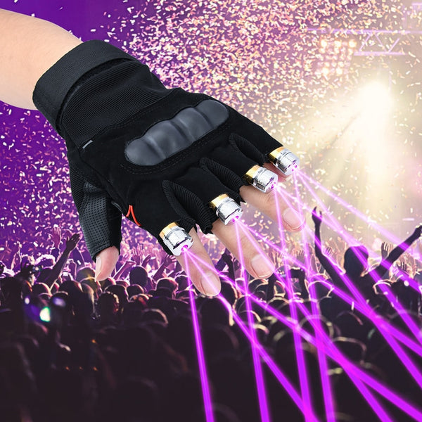 Cool Finger Laser Gloves Flashlight for Party Concert Clubbing Wedding Birthday Party Outdoor Night Activities - LADSPAD.COM