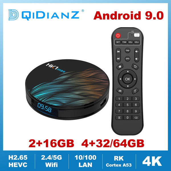 HK1MAX Android 9.0 Smart TV Box Quad Core 2.4G/5G Wifi BT 4.0 DDR3 4K HDR Media Player VS X96 HK1 MAX MINI Set Top Box Google - LADSPAD.COM
