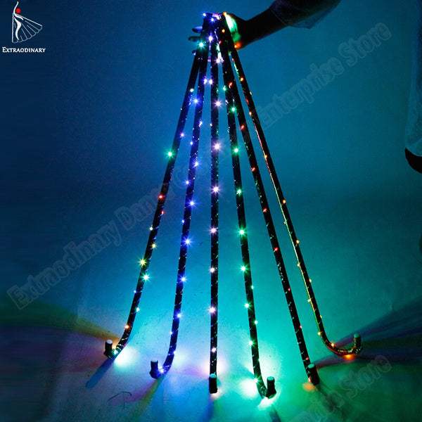 LED Colorful Crutch Jazz Cane Belly Dance Stage Performance Props Accessories Christmas Party Prop Lighting Walking Crutch - LADSPAD.COM