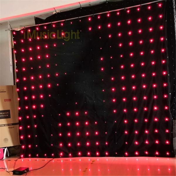 P18 2.5M*3M  LED Video Curtain Backdrop With DMX Controller 60 Animated Patterns Christmas Effect Light LED Vision Cloth