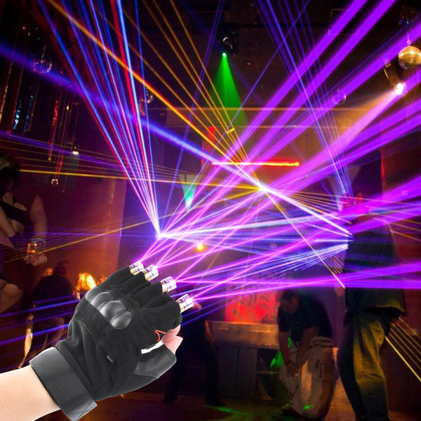 Red Green Purple  Laser Gloves Dancing Stage gloves laser Palm Light For DJ Club/Party/Bars Stage finger Light  Personal props - LADSPAD.COM