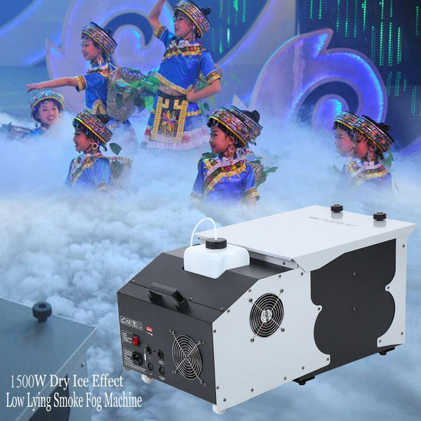 1500W Smoke Fog Machine Low Lying Ground Emitter Wedding Party Stage Disco DJ Bar - LADSPAD.COM