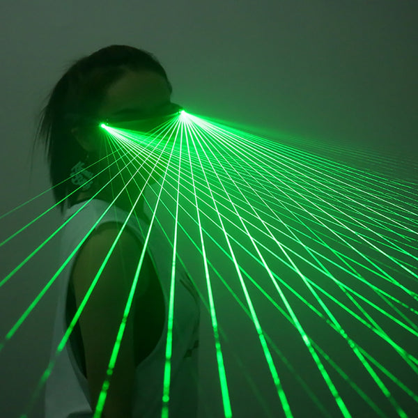Red Green LED Laser Glasses Light Dancing Stage Show DJ Club Party Glasses Multi Beams For LED luminous Costumes - LADSPAD.COM