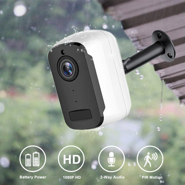 1080P HD WiFi IP Camera Outdoor Wireless Security Battery Charge Camera Audio Surveillance CCTV PIR Motion Detection Camhi Pro - LADSPAD.UK