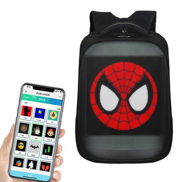 LED Backpack APP Control Wifi Smart Backpack with LED Screen   Display for Outdoor Walking Advertising Billboard Backpack - LADSPAD.COM