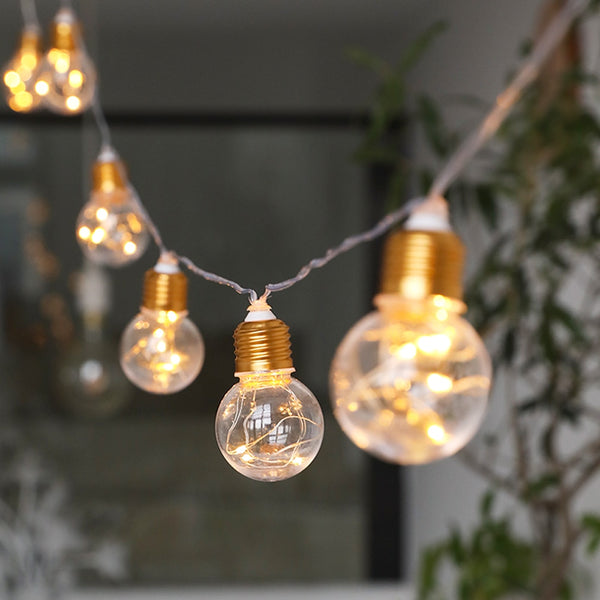 10 Bulbs 4M LED Festoon Party Lights Garland String Fairy Lights for Wedding Events lights Garden Party Bar Bistro Lighting Deco - LADSPAD.COM