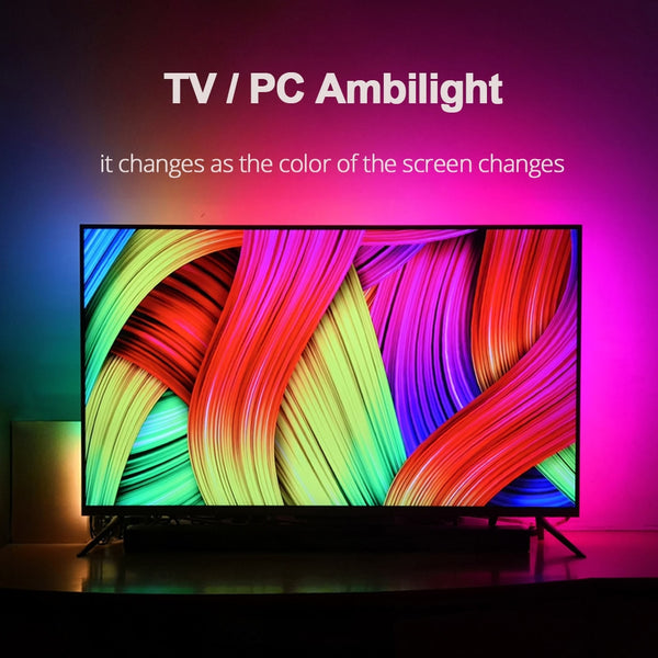 DIY Ambilight TV PC Dream Screen USB LED Strip HDTV Computer Monitor Backlight Addressable WS2812B LED Strip 1/2/3/4/5m Full Set - LADSPAD.COM