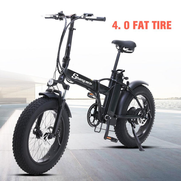 electric bike Shengmilo 20 inch ebike electric bicycle snowmobile 48V500W  electric folding bike 4.0 fat tire a bike e bike - LADSPAD.COM