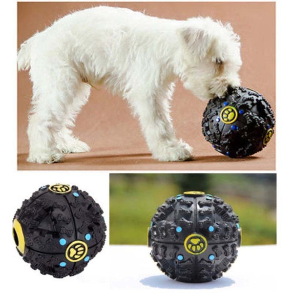 Pet Dog Cat Puppy Play Train Squeaky Sound Toy Chew Ball