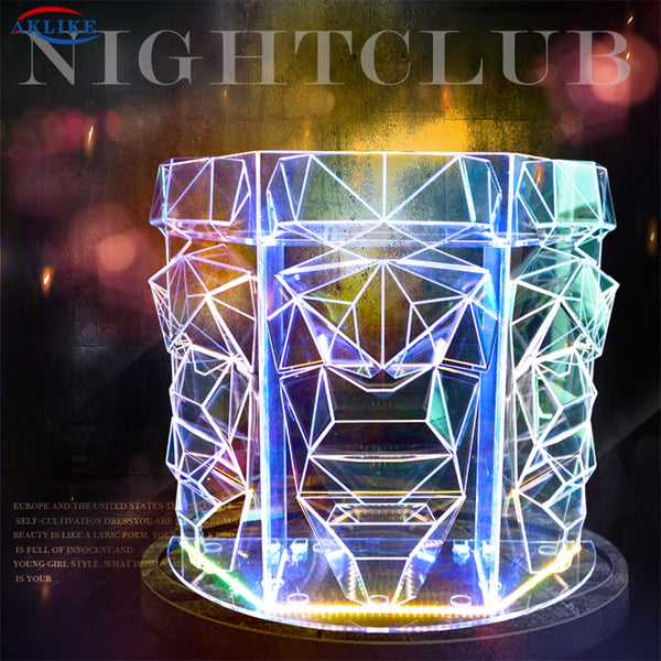 AKLIKE Factory Customized Acrylic DJ Table DJ Table Led Desktop Cool Bar Nightclub DJ Booth Home Dish Equipment Pioneer VJ Equip