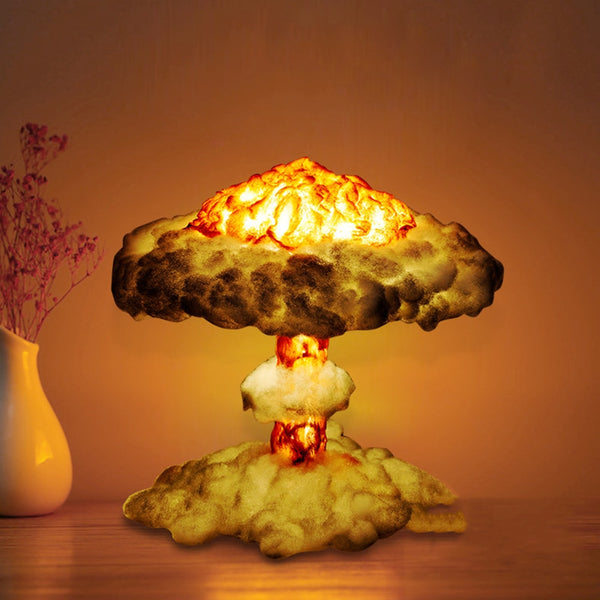 Dropship 3D Mushroom Cloud Explosion Lamp,Nuclear Explosion Night Light Bedroom Bedside Table Lamp Kids Boys Decorations Lamps - LADSPAD.COM