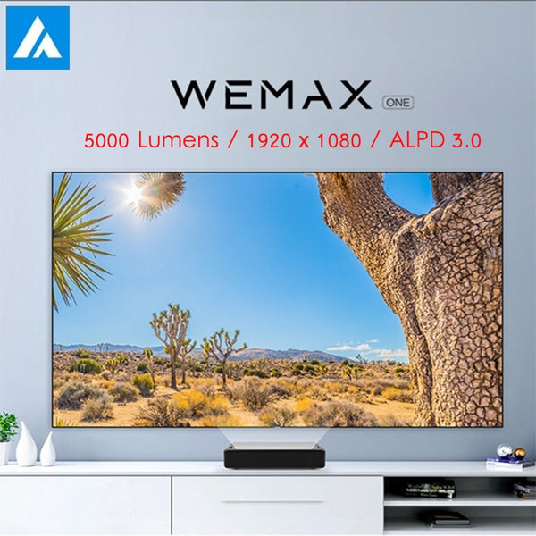 WEMAX One Laser Projector 5000 Lumens 150 Inch 1920 x 1080 Voice Control Android 6.0 ALPD 3.0 Bluetooth 4K HD Home Theater
