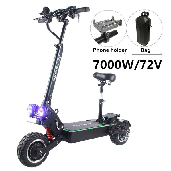 FLJ 72V 7000W Electric Scooter with Dual motors engines acrylic led pedal Top Speed E Bike Scooter electrico