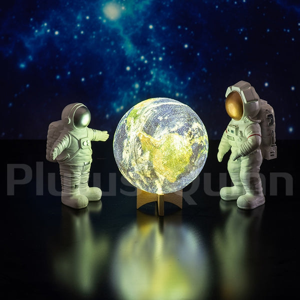 Drop 2020 New 3D Printing Earth Lamp Rechargable Planet Night Light For Bedroom decoration As Galaxy Lamp Children's Gift - LADSPAD.COM