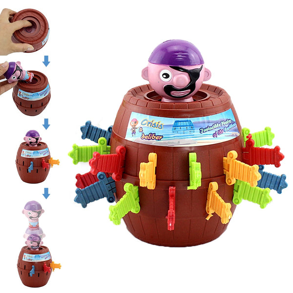 Funny Novelty Kids Children Funny Lucky Game Gadget Jokes Tricky Pirate Barrel Game NTDIZ1040 - LADSPAD.COM