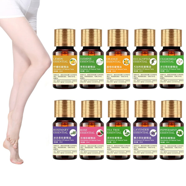 Wholesale 10ml Organic Essential Oils for Aromatherapy Diffusers Body Oil Relaxing Sleep Aid Aromatherapy Massage Oil  TSLM2 - LADSPAD.COM
