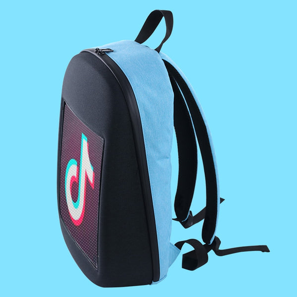 LumiParty LED Screen Dynamic Advertising Backpack DIY Wireless Wifi APP Control Backpack Outdoor City Walking Billboard Backpack - LADSPAD.COM