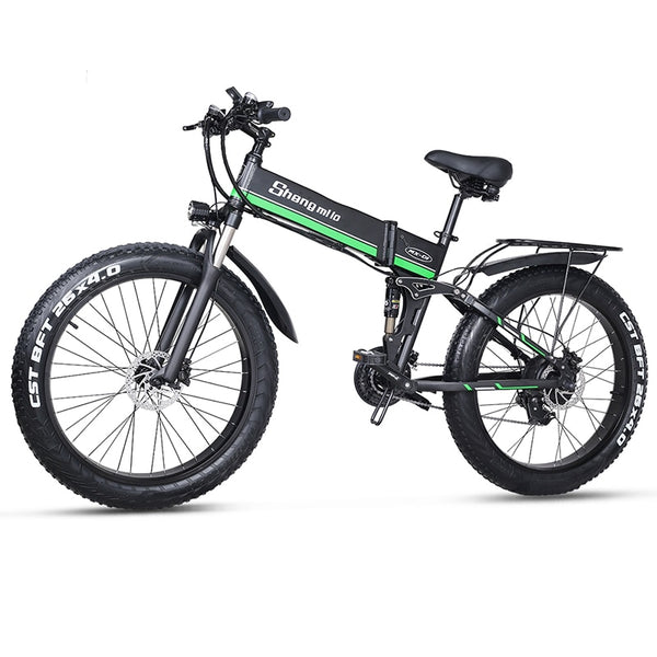 Electric bicycle 1000W Electric Beach Bike 4.0 Fat Tire Electric Bike 48V Mens Mountain Bike Snow E-bike 26inch Bicycle - LADSPAD.UK