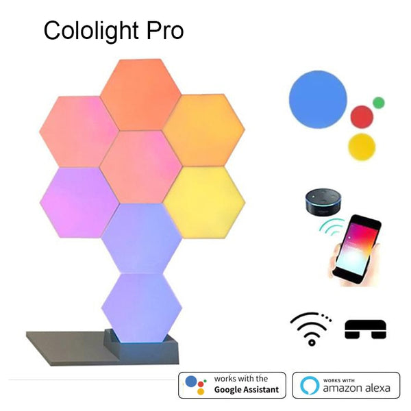 2019 New Quantum Lamp DIY LED Night Light Creative Geometry Assembly Smart APP Control Google Home Amazon Alexa Lamp Lifesmart - LADSPAD.COM