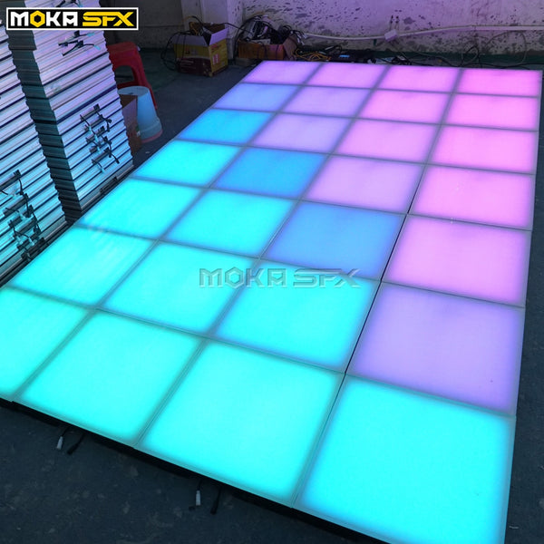 25pcs/lot Light up Tiles RGB 3in1 SD Card Control Interactive Dance Floor Wedding Floor for Sale