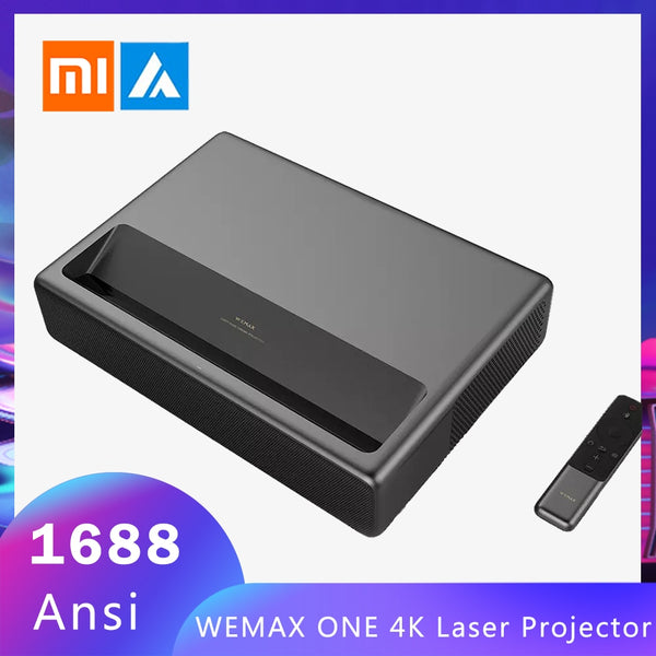 New Xiaomi Mijia WEMAX ONE 4K Laser Projector TV  1688 Ansi Lumens 150'' 1080P FHD Android 6.0 BT4.0 2.4/5GHz WiFi Home Theater