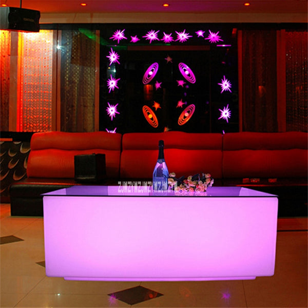 Creative Colorful Waterproof LED Bar Table Modern Coffee Tables 16-Color Led Light Home Decoration Table With Remote Controller