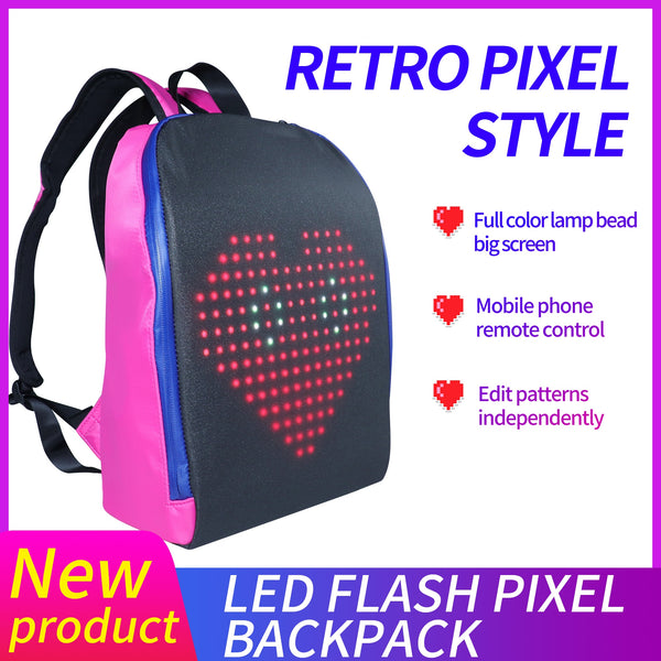 Biosled LED Advertising Light Led Display Backpack Smart WIFI Version APP Control Computer Backpack with customizable LED screen - LADSPAD.COM