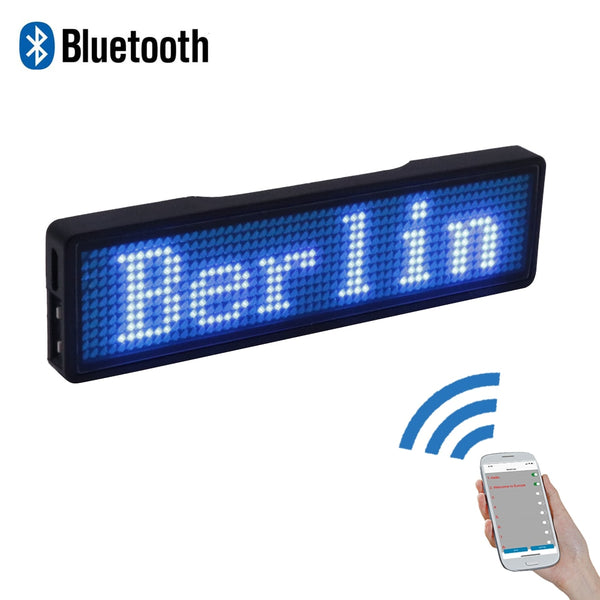 Bluetooth LED name badge programmable LED display rechargeable adverting light for restaurant waiter party event exhibition show - LADSPAD.COM