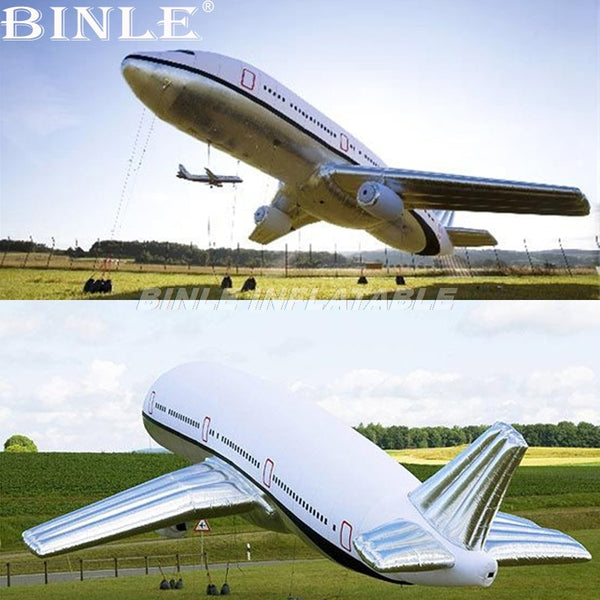Customized outdoor advertising giant inflatable airplane model large space shuttle for event decoration - LADSPAD.COM