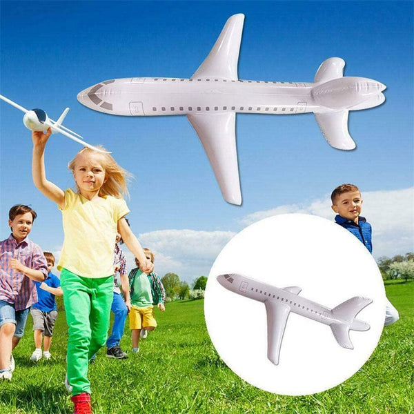 Hand throwing plane Inflatable Airplane Float Airplane Ball with Inflatable Tube for Outdoor Swimming Hand Launch Airplane Model - LADSPAD.COM