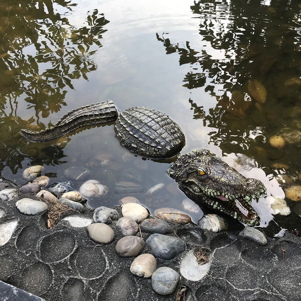 Floating Crocodile Head Water Simulation Crocodile Head 34x15x8.5 Cm Water Bait Garden Pond Art Decoration #25 - LADSPAD.COM