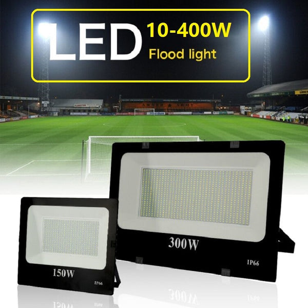Led Flood Light Ultra-thin 10W 30W 50W 100W 200W 300W 400W 220V led Spotlight Outdoor Garden Lamp Waterproof IP66 Spot light - LADSPAD.COM