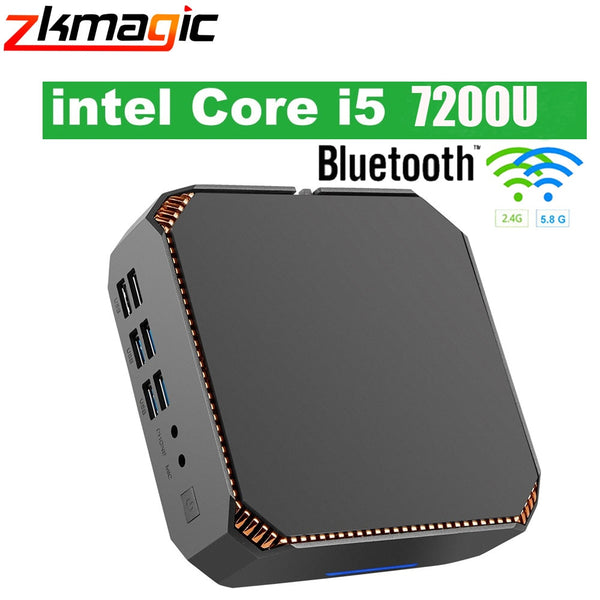 Mini PC Intel Win10 Desktop PC Kaby Lake Core i5 7200U 2.4GHz 5.8GHz WiFi 1000Mbps BT4.2 CK2 Desktop Computer 4K Mini PC linux - LADSPAD.COM