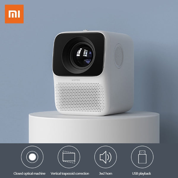 Xiaomi Wanbo LCD Projector T2 Free HDMI HD input 150 ANSI lumens Vertical Keystone Correction Portable Home Theater Projector - LADSPAD.COM