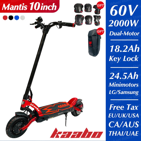 Original Kaabo Mantis 2000W dual motor e-scooter LG battery 60V 24.5Ah electric scooter two wheel foldable skateboard hydraulic