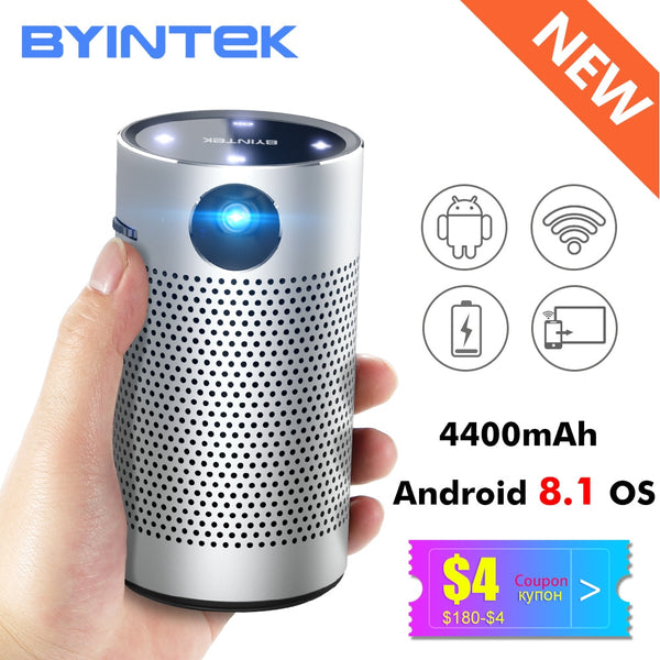 BYINTEK P7 Pocket Portable Pico Smart Android WIFI 1080p Video HD lAsEr LED DLP Mini Projector Proyector Projetor Projektor - LADSPAD.UK